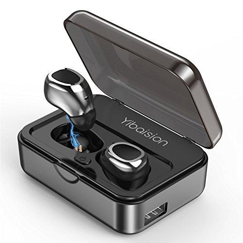 2018最新版 Bluetooth運動式イヤホン IPX5防水 完全ワイヤレ...