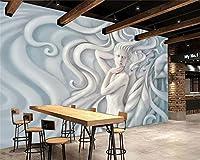Wapel Beibehang カスタムの壁紙 3 次元ステレオヨーロッパスタイルの油絵の現代抽象芸術の壁の壁画のリビングルームの壁紙 絹の布 200x140CM