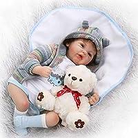 NPKシミュレーションReborn人形Lifelike人形RebornベビーBoyシリコンタッチソフトリアルな新生児赤ちゃん人形20インチ布ボディBoneca幼児用and Free Bear Toyギフト