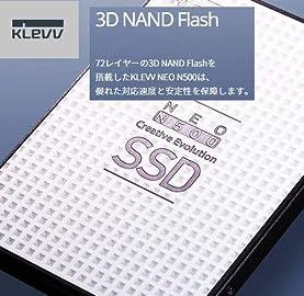 ESSENCORE KLEVV SSD 120GB 3D 72-Layer NAND Flash採用 SATA3 6Gb/s 2.5インチ 7mm 3年保証 NEO N500 D120GAA-N500