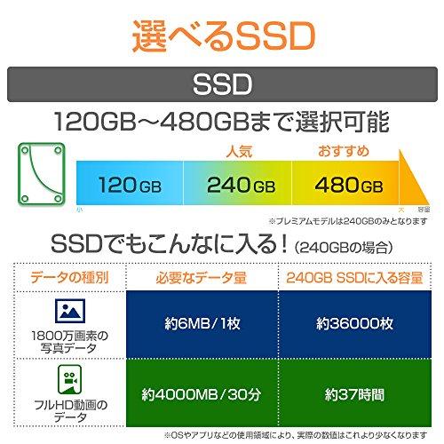 『mouse ノートパソコン MB-BN25I782S-ZN Windows 10/Corei7/15.6インチ/SSD240GB/8GBメモリ』の4枚目の画像