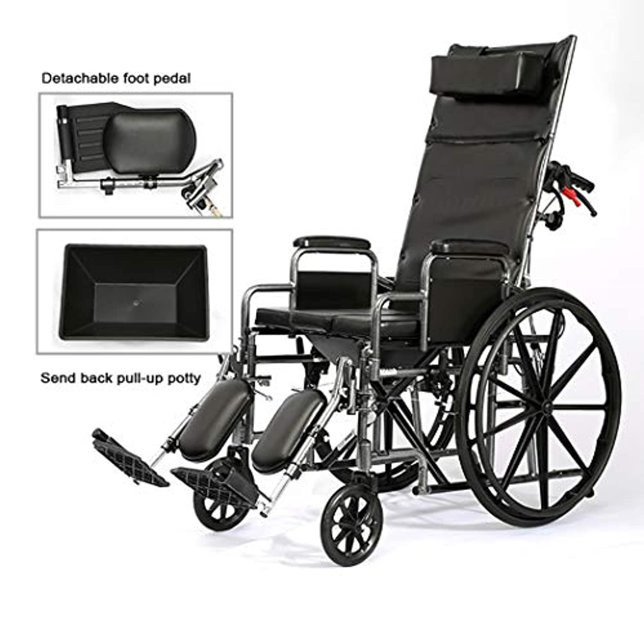 バスケットボールスペース平凡輸送用車椅子、医療用シャワー便器可動椅子、最大積載量100kg、高齢者/妊婦/身体障害者