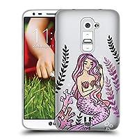 Head Case Designs ピンク マーメイド2 ソフトジェルケース LG G2 / D800 / D802 / D801