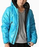 (リピード) REPIDO ダウンジャケット メンズ 中綿ジャケット 中綿ブルゾン ターコイズ Mサイズ
