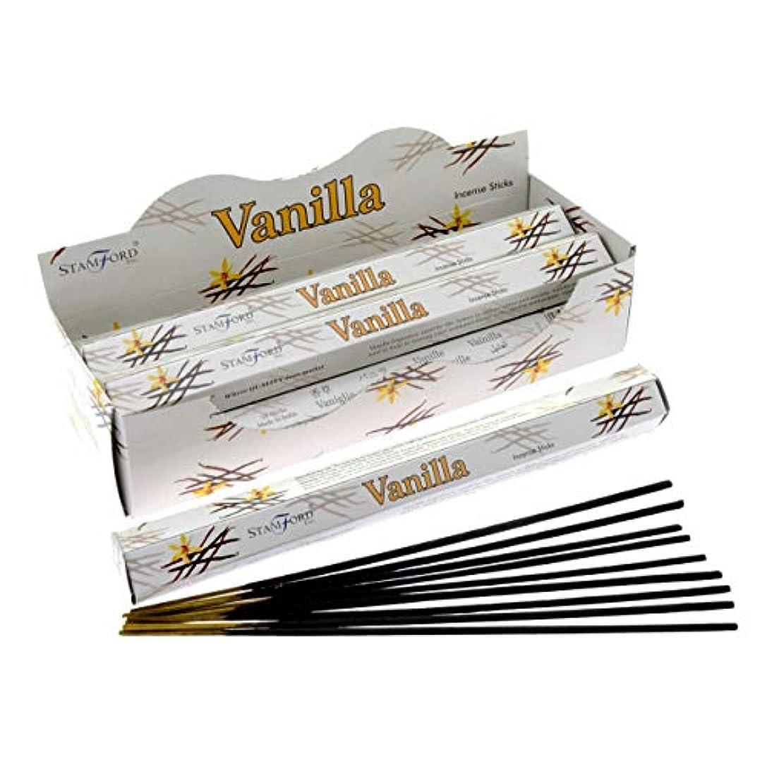 凍るハミングバード協力的Stamford Vanilla Incense, 20 Sticks x 6 Packs