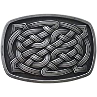 New Vintage Cross Celtic Knot Rectangle Belt Buckle