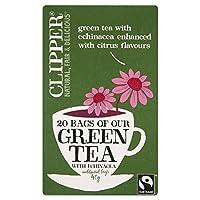 1パックシトラス&エキナセア20とクリッパーグリーンティー (x 2) - Clipper Green Tea with Citrus & Echinacea 20 per pack (Pack of 2) [並行輸入品]