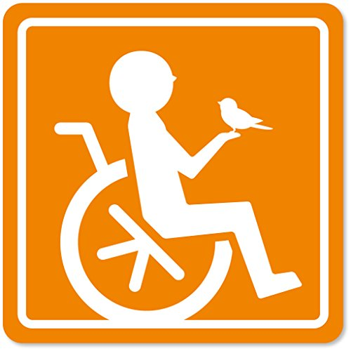 imoninn 障害者マーク 【マグネットタイプ】 車いすサイン・福祉車両用 (オレンジ色)