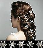 【Strelitzjazz】 雪の結晶 6本組 アナと雪の女王 エルサ 風 ヘア アクセサリー 髪飾り コスプレ スノークリスタル