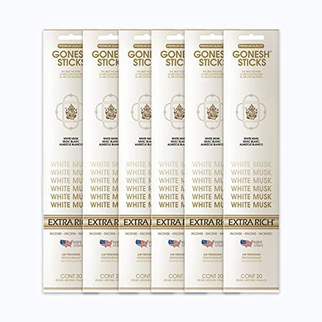ジャングル岸デザートGONESH インセンススティック WHITE MUSK ホワイトムスク 6パック120本組