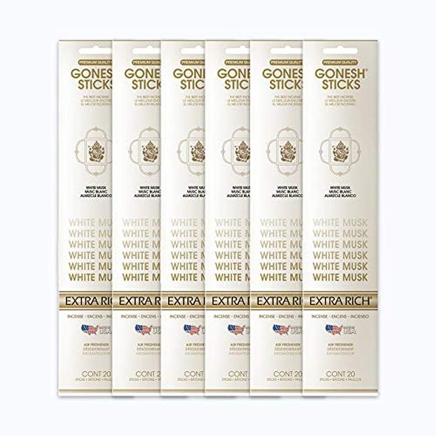 クライストチャーチゆりホストGONESH インセンススティック WHITE MUSK ホワイトムスク 6パック120本組