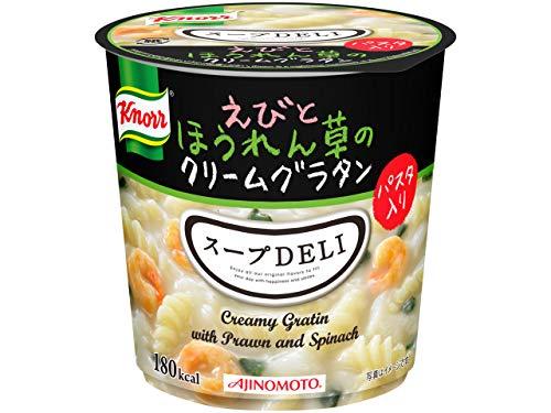インスタント クノール スープDELI えびとほうれん草のクリームグラタン 12個