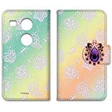 セボンスター Nexus5X LG-H791 ケース 手帳型 プリント手帳 グラデーションC (ss-003) WN-LC255982