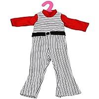SONONIA ファッション ボトム パンツ  + レッド トップ 服 セット  18インチ アメリカンガールドール用