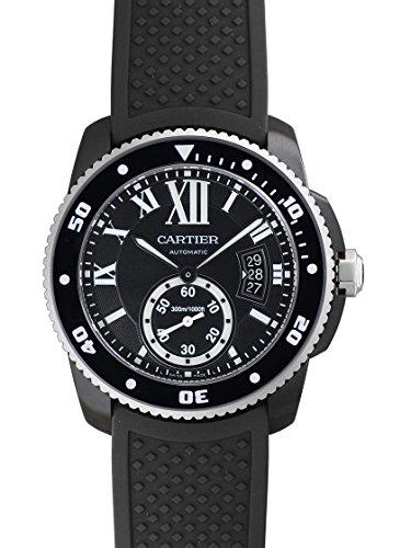 [カルティエ] CARTIER 腕時計 カリブル ダイバー カーボンウォッチ SS(ADLC) ラバー WSCA0006 メンズ 新品 [並行輸入品]