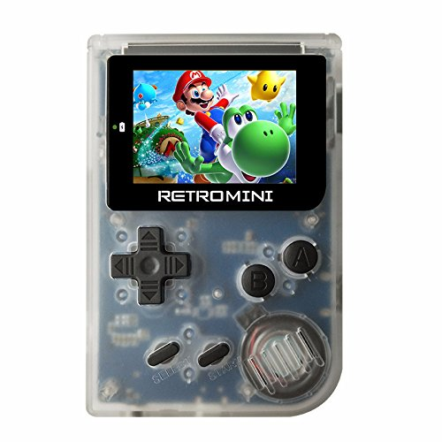 Classichomie MINI GBAレトロ懐かし子供ポータブルゲーム機 8GB MicroSDカード&収納ボックス 子供プレゼント(透明な白)