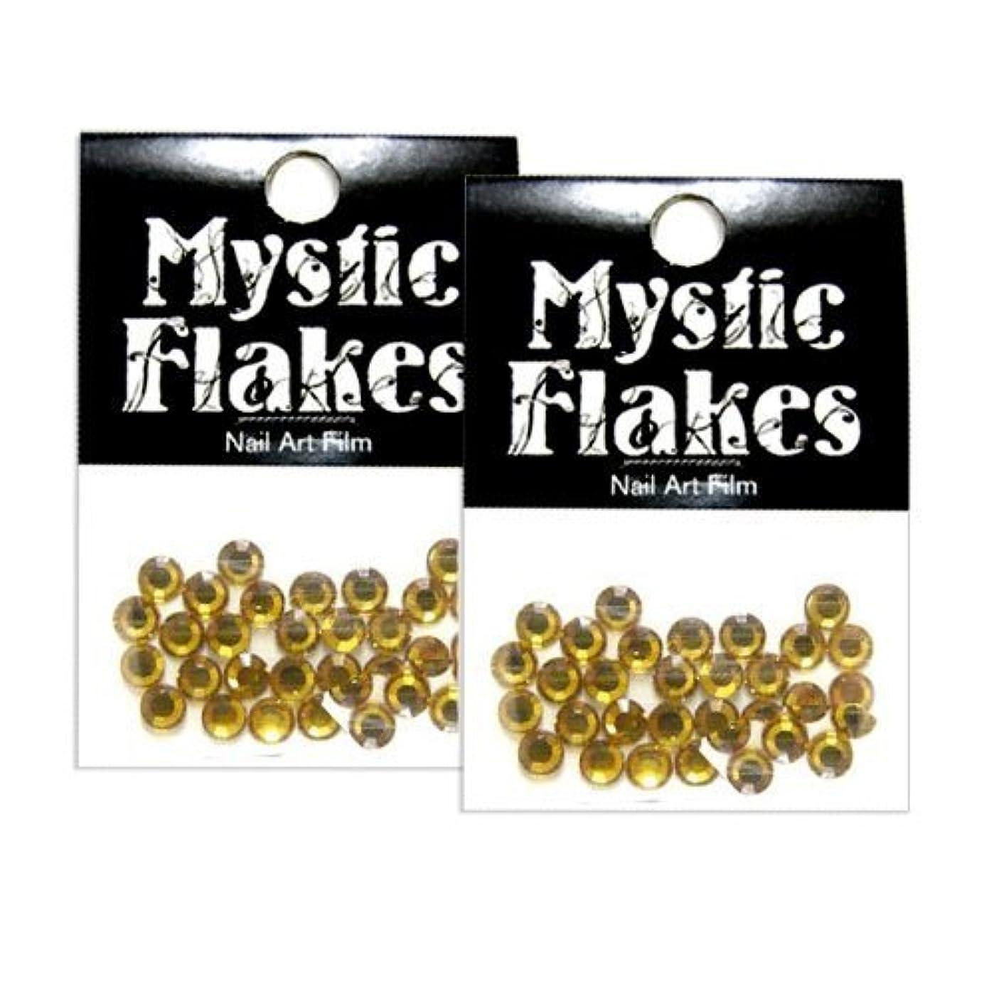 酸っぱい流分布ミスティックフレース ネイル用ストーン ラインストーン ゴールド 5mm /30P 2個セット
