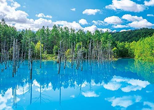 500ピース ジグソーパズル 美瑛白金の青い池 (38x53cm)