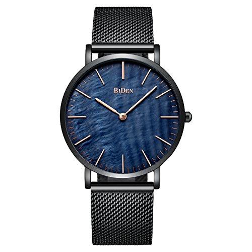 スポテレン SPOTALEN 腕時計 メッシュベルト 大人気 カジュアル フォーマル腕時計 ウォッチ (ブラック)