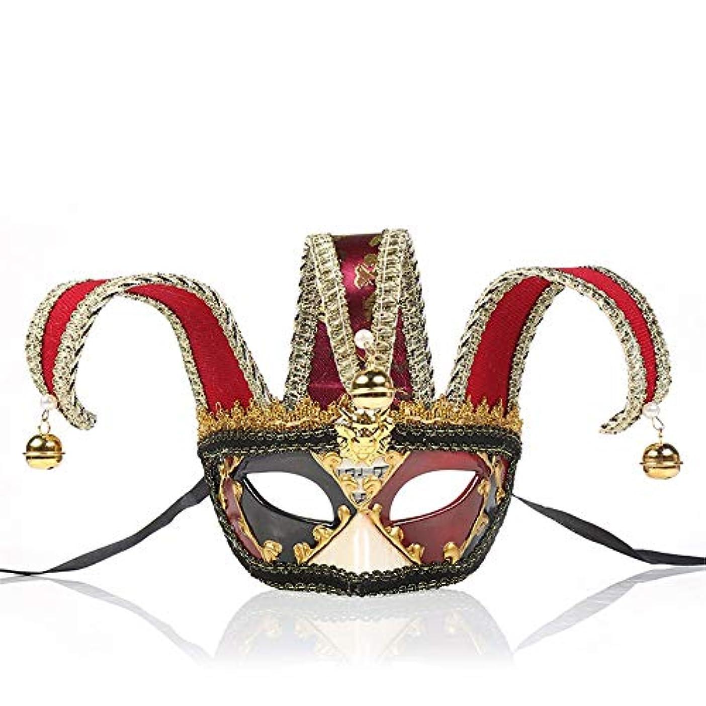それによって一時停止民間ダンスマスク 若者の少女ハロウィーンギフトレトロマスクホット販売マスカレードロールプレイング装飾 パーティーボールマスク (色 : 赤, サイズ : 28x16.5cm)