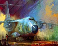 壁紙ヨーロッパスタイルの油絵航空機の背景壁画家の装飾の3D壁紙リビングルームの壁紙-100x144cm