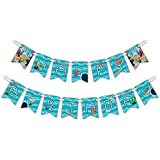 Shark Happy Birthday Party Banner Decoration (Includes 23ft Ribbon) [並行輸入品]
