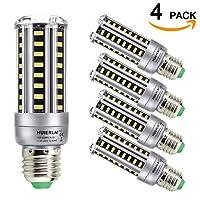 HUIERLAI 超高輝度LEDコーンライト電球 2-4個パック 家庭用&商用 E26/E27 7W 9W 12W 15W 18W 20W AC85-265V ホワイト 非調光 38MM/1.5IN*118MM/4.65IN HEL000003