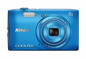 Nikon デジタルカメラ COOLPIX S3600 8倍ズーム 2005万画素 コバルトブルー S3600BL