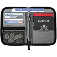 BAGSMART Travel RFID Blocking Wallet Passport Holder Cover Credit Card Organizer