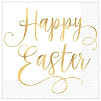 Easter Hot Stamped Premium Luncheon Napkins - 16 in a Package