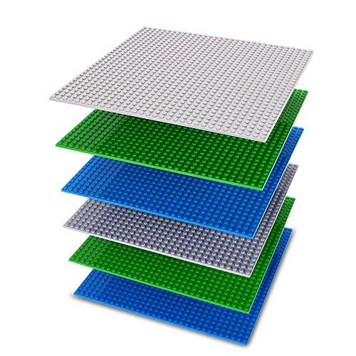 NextX ブロック プレート基礎板 赤ちゃん知育玩具 三色六枚セット 建物おもちゃ創造力 発想力 アップ (2緑+2藍+2灰色)