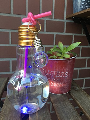 カフェディムリー NEW!! LED電球ボトル 500ml & ミニ電球チャーム付き 10個セット