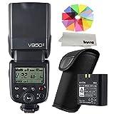 【正規品 技適マーク付き】Godox VING V850II GN60 2.4G Off Camera 1/8000s HSS フラッシュ スピードライト ストロボ 内蔵 2.4G ワイヤレス X システム 2000mAh Li-ion電池付き Canon Nikon Pentax Olympas デジタル一眼レフカメラ用