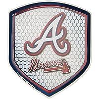Caseys 8162062703 Atlanta Braves Shield Style Reflector