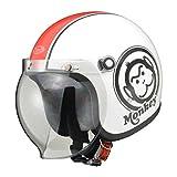 Honda(ホンダ) バイクヘルメット ジェット モンキー ホワイト レッド L(59-60センチ未満) 0SHGC-JM1A-WRL
