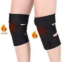 膝サポーター 自己発熱 遠赤外線 磁石 保温 膝固定 関節炎 関節痛 血行促進 関節靭帯保護 調整可能 フリーサイズ 左右1セット