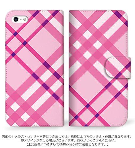 mitas Galaxy S3 global i9300 ケース 手帳型  カワイイ柄 人気デザイン チェック[ピンク] (265) SC-0198-21233371/i9300