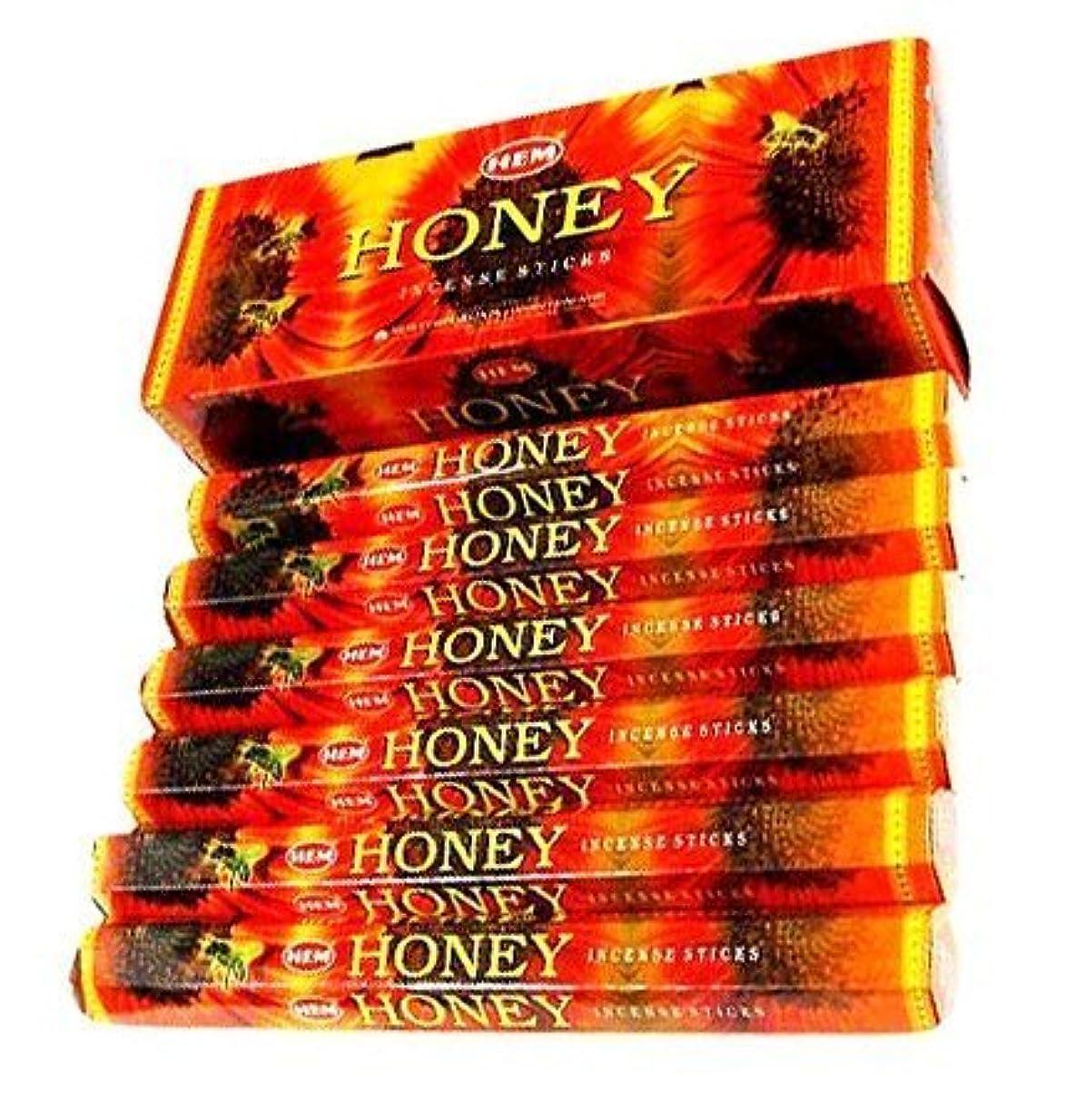 インド懐疑的筋Hem Honey Incense Sticks 120ct [並行輸入品]