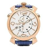 (ガガミラノ) GAGA MILANO ガガミラノ 時計 メンズ GAGA MILANO 5098.01BT THINCHRONO シンクロノ 46MM 腕時計 ウォッチ ブルー/ゴールド/ホワイト [並行輸入品]