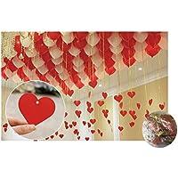 【Art.】赤 白風船?赤 メッセージカード 付き 風船 ウエディング (1?赤 白風船?カード赤)