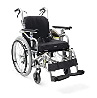 【非課税】カワムラサイクル 低床型簡易モジュール車いす アイコンバック仕様 スイングアウト式 シート幅38cm 超低床20インチ シルバー×ブラック (KZ20-38-SL/ICRシルバー×ブラック) [自走・介助兼用]