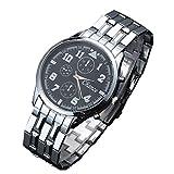 1stモール メンズ 腕時計 シンプル プライベート ビジネス フォーマル ブラック ホワイト プレゼント 2カラー