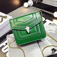 Snake Head Pattern Women's Shoulder Chain Bag Envelope Bag (Green) Messenger Bags