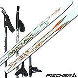 FISCHER フィッシャー クロスカントリー・スキー板 スポーティークラウン ノーエッジ N45581/ホワイト 182cm (ポール140cm付き/ビンディング無し)