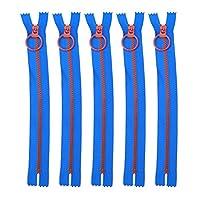 ファスナー ジッパーファスナー カラフル樹脂ファスナー ジッパー ドレス・ポーチ・財布などに適用 裁縫材料 20cm 5タイプ全 SIKIWIND (#1)