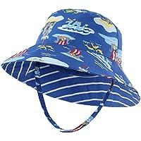 (コネクタイル) Connectyle キッズ UPF 50+ サファリハット つば広 UVカット バケットハット 子供 夏 日よけ帽子 ベビー用ハット