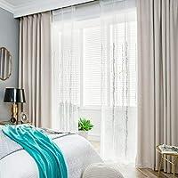カーテン, 遮光 カーテン 断熱 遮熱 防音 洗濯可 防寒 厚手カーテン UVカット モダン に適しています 寝室 ベッドルーム リビング 子ども部屋 キッチン 1 枚-E-400x270cm(157x106inch)
