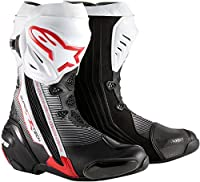 アルパインスターズSupertech RメンズStreet Motorcycle Boots–ブラック/レッド/ホワイト/ 41