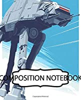 Composition Notebook: American Fictional Star Wars Science Fiction Humans And Aliens Universe Epic Space Adventure. Student Teacher Daily Creative Writing Composition Notebook, Paper 7.5 x 9.25 Inches 110 Pages. Inexpensive Gift For Boys And Girls.