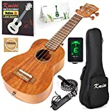 Ukulele Soprano Beginner Mahogany 21 Inch Vintage Hawaiian Ukelele With Uke Starter Pack Kit (Gig Bag Tuner Strap String Instruction Booklet)